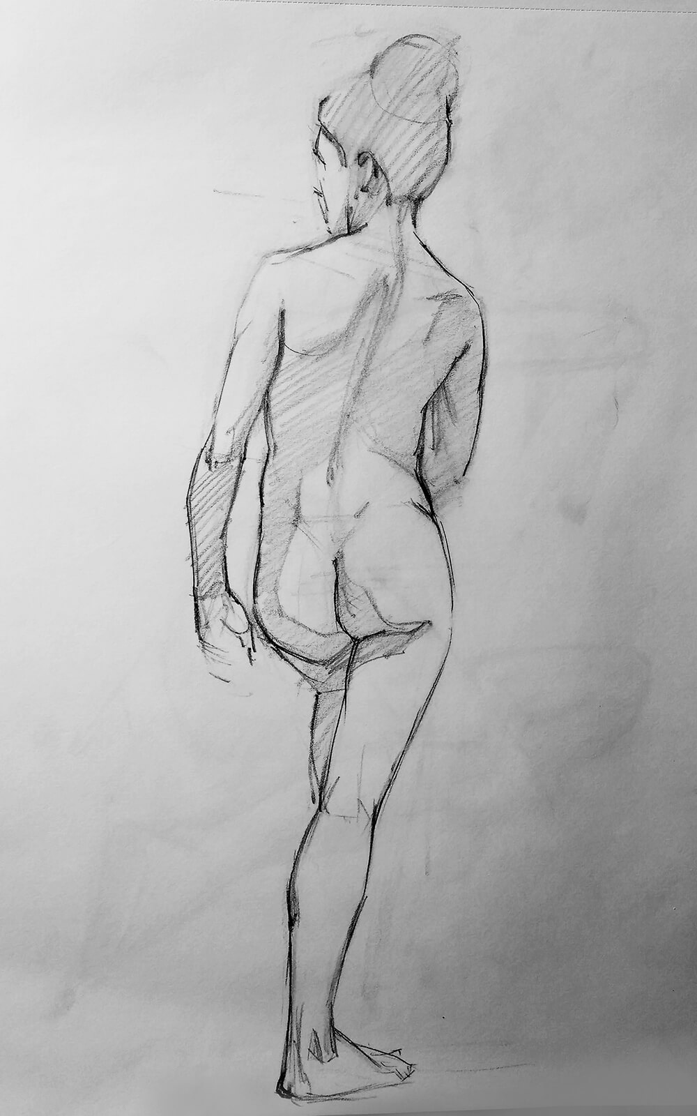 Dibujo Figura. Diego Catalán. Estudio Nigredo - Academia de Pintura y Dibujo