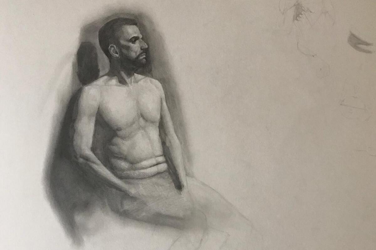 Dibujo a lápiz Estudio Nigredo Academia de Pintura y Dibujo