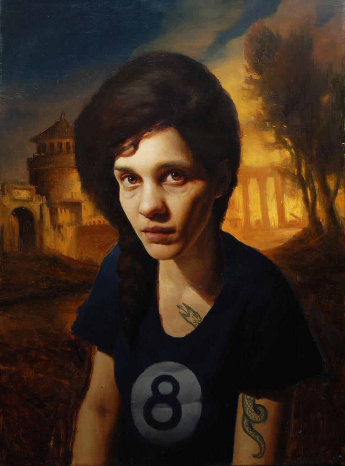 Pintura Retrato en Óleo. Diego Catalán. Estudio Nigredo - Academia de Pintura y Dibujo
