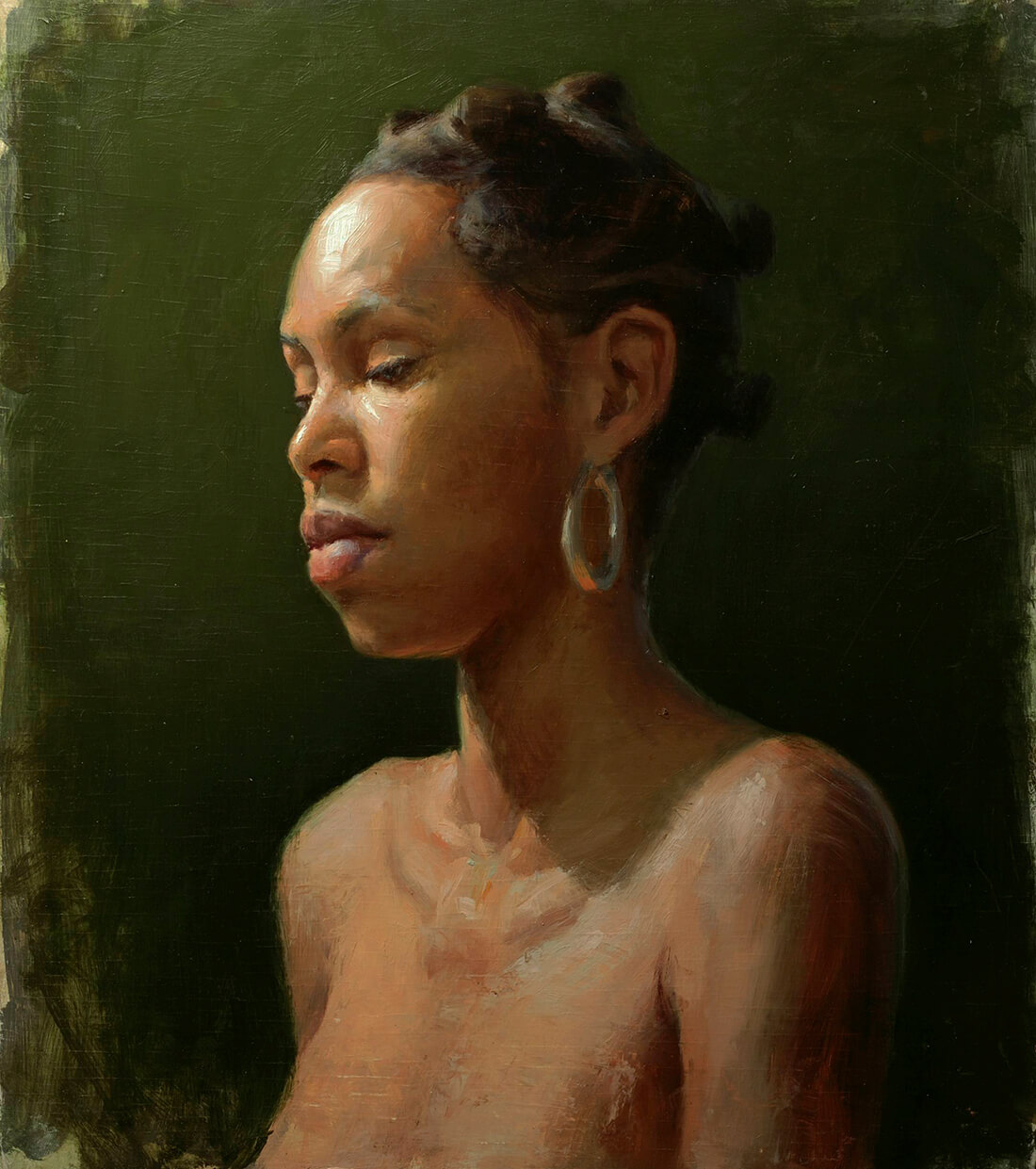 Pintura Retrato Óleo. Diego Catalán. Estudio Nigredo - Academia de Pintura y Dibujo